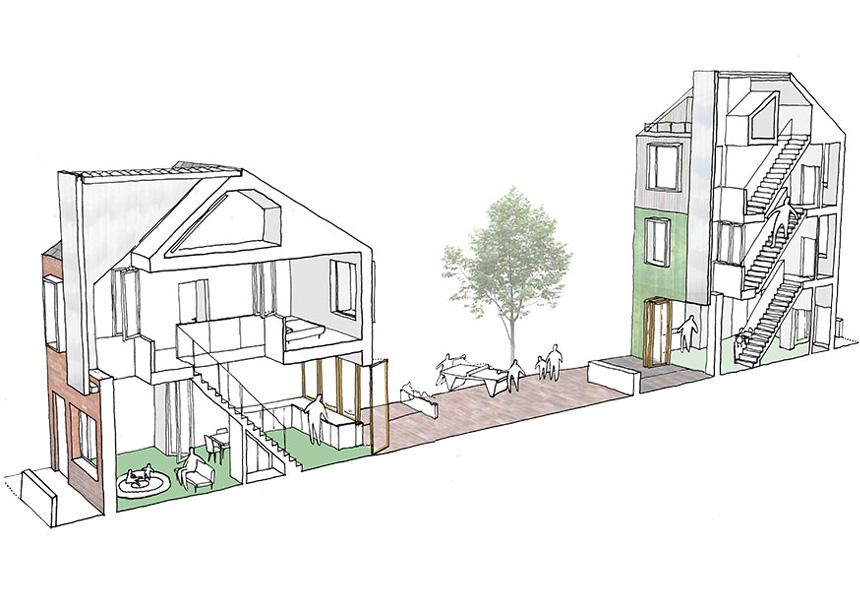Peabody-housing-winner-section-terraced-housing