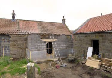 House extension under construction
