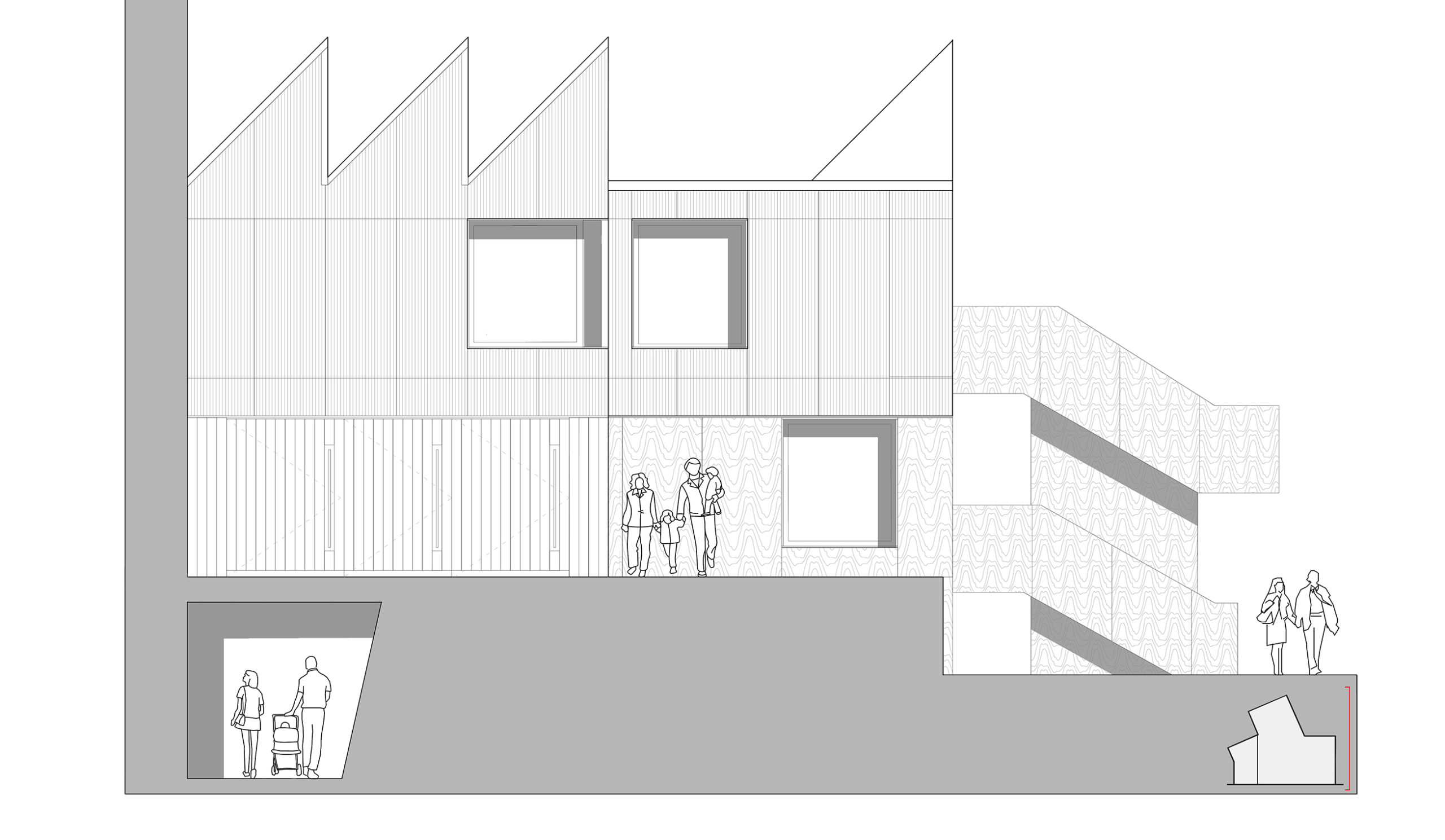making creative centre for life making studio front elevation