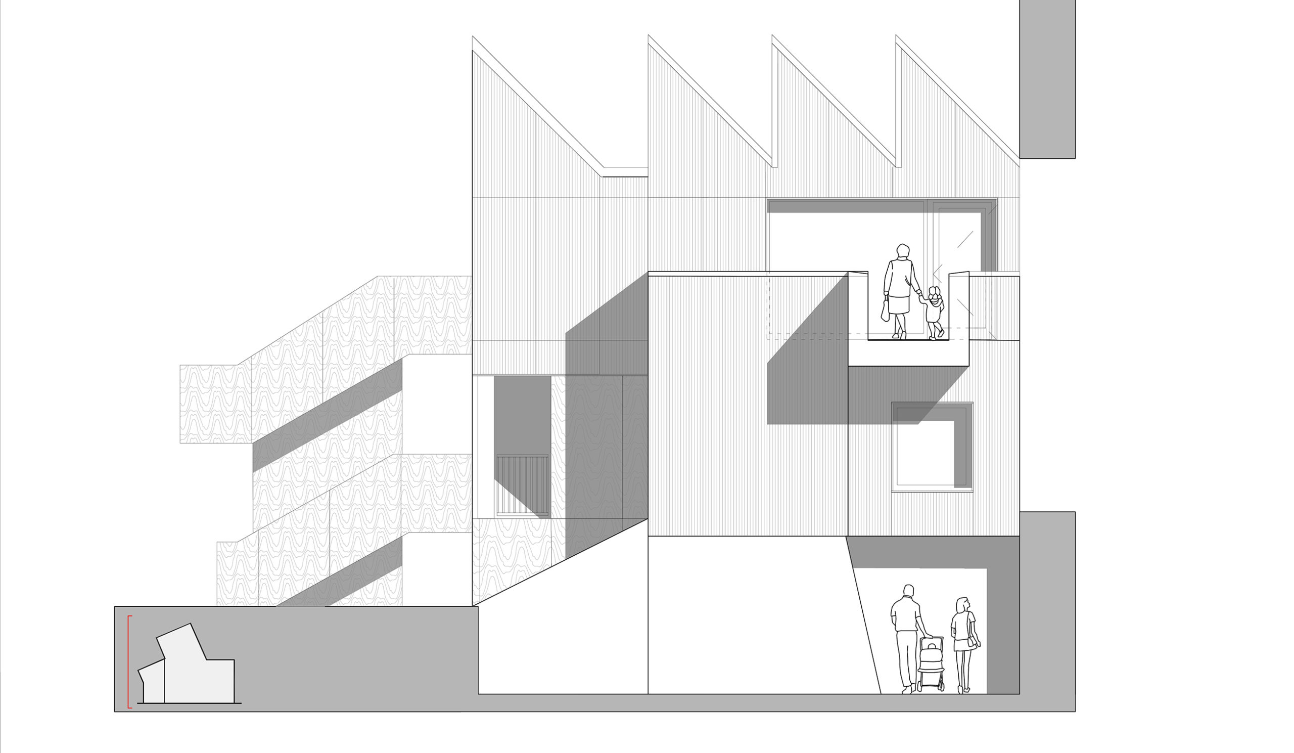 making creative centre for life making studio rear elevation